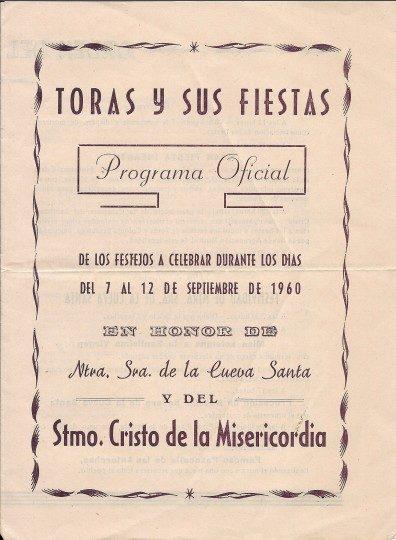 Libro de Fiestas Torás - 1960
