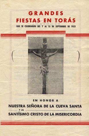 Libro de Fiestas Torás - 1953