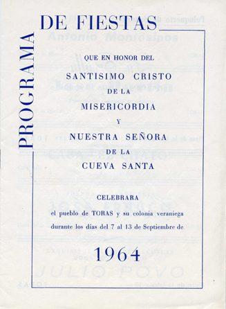 Libro de Fiestas Torás - 1964
