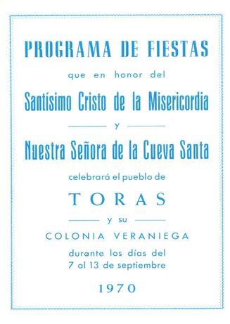 Libro de Fiestas Torás - 1970