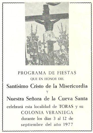 Libro de Fiestas Torás - 1977