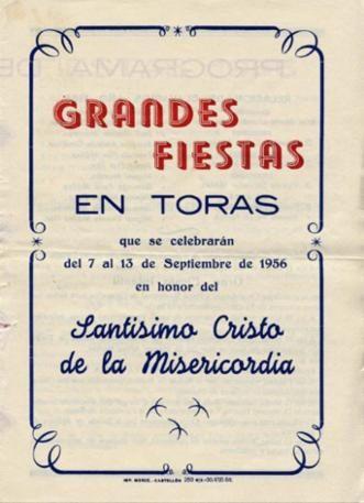 Libro de Fiestas Torás - 1956
