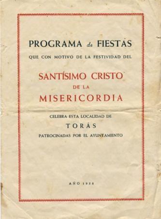 Libro de Fiestas Torás - 1958