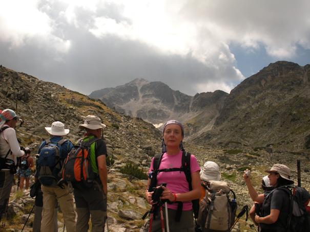 """Mar con el pico Musala sobre su cabeza. En turco-árabe, Musala significa """"el último antes de Dios"""". Sus 2.925 metros lo convierten en el pico más alto de Bulgaria. Agosto 2012"""