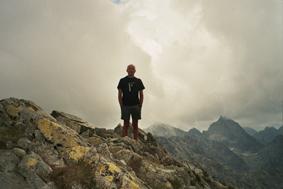 José Vicente Sanz en el Pico Kòprovský (2.363 m)
