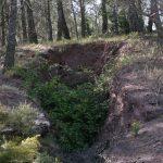 Calicata de baritina en el barranco del Aguamala