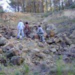 Pequeña cantera de ofitas en la parte más alta del Aguamala