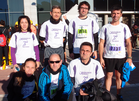 De pie, Sonia, David, Javi y Ángel. Agachados, Estefi, José Vicente y Paco