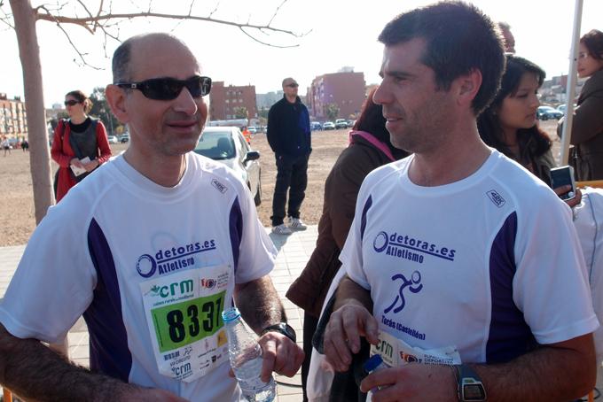 José Vicente y Ángel, los líderes en esta carrera del atletismo de Torás