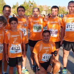 Parte del equipo antes de comenzar la carrera