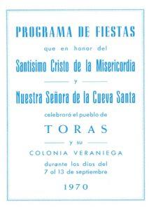 Libro de Fiestas 1970