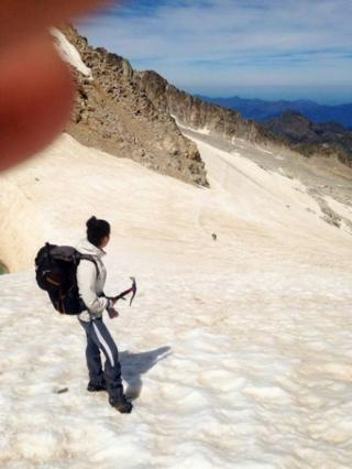 Descenso por el glaciar