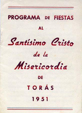 Libro de Fiestas Torás - 1951