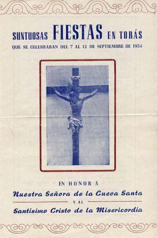 Libro de Fiestas Torás - 1954
