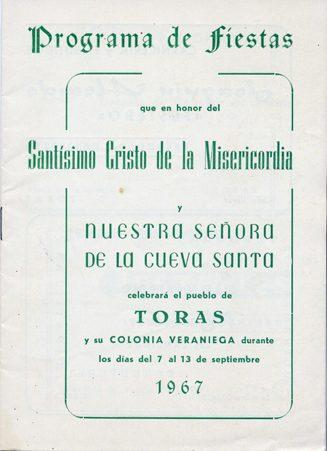 Libro de Fiestas Torás - 1967