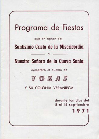 Libro de Fiestas Torás - 1971
