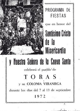 Libro de Fiestas Torás - 1972