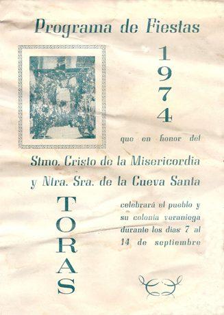 Libro de Fiestas Torás - 1974