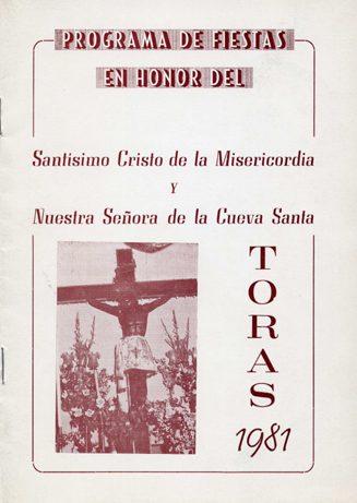 Libro de Fiestas Torás - 1981