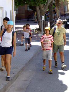Ana, Mónica, Sergio y Jose a su llegada