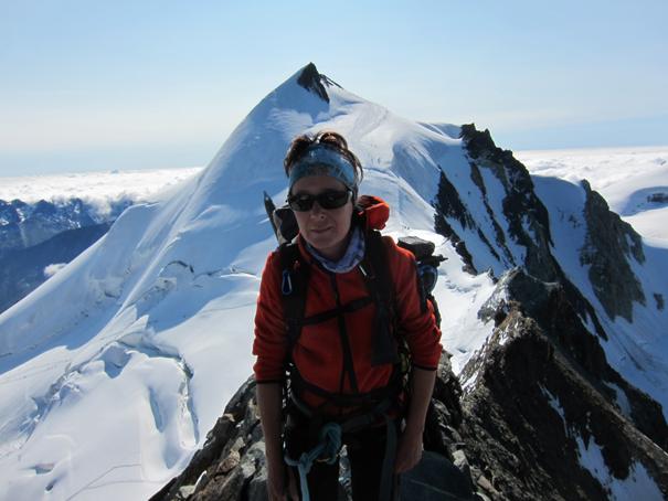 Sobre la cabeza de Mar el Allalinhorn, 4027 m