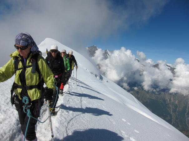 Última arista del Weissmies (espuma blanca), 4023 m