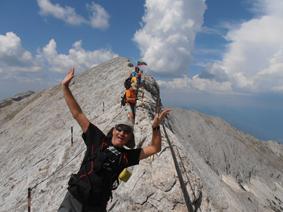 Torasero en la Cresta del Caballo, cerca del pico Vihren (2.914 m), Bulgaria. Los eslavos creían que que Perún, el dios de los truenos, vivía allí. Agosto del 2012