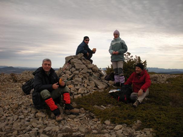 En el Puntal de Magaña (1.614 m), Sierra del Toro, 7 de febrero de 2010. Fotografía de José Vicente Sanz