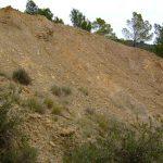 Criadero de piritas en la parte baja del Aguamala