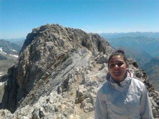 Marta en el pico Culebras
