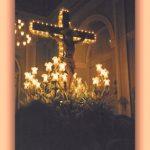SANTÍSIMO CRISTO DE LA MISERICORDIA ANTES DE SALIR DE LA IGLESIA EN PROCESIÓN. FOTO DE JOSÉ VICENTE SANZ