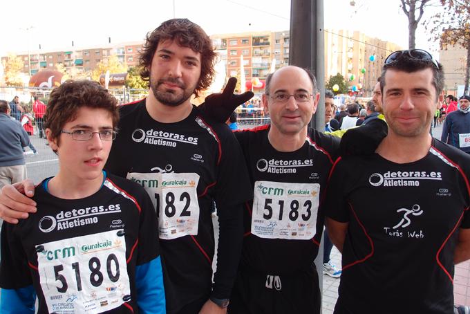 En orden inverso a las posiciones de llegada, César, Javi, José Vicente y Ángel