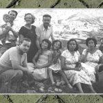 FAMILIARES DE ENCARNA SOLER CON TICO (HIJO DE LA TÍA FILOMENA) Y SU MUJER CARMEN. VERANO DE 1957. FOTO DE ENCARNA HUESO