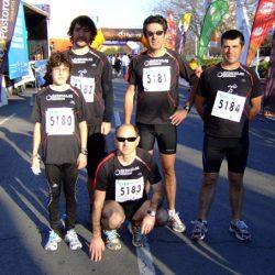 De izquierda a derecha, César, Javi, José Vicente (agachado), David y Ángel. Falta en la foto Eugenia