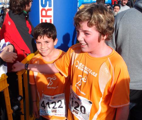 Pau y Marcos al finalizar la carrera