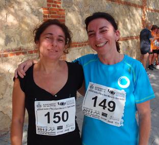 Dos toraseras, Mª José y Cristina que participaron en la carrera