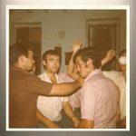 """SANGRÍA EN EL TELECLUB. AÑOS 70. EN LA FOTO TONI """"MOCITO"""", ANTONIO """"TALAERO"""" Y PEDRO"""