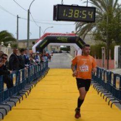 Jorge entrando en meta después de 11,5 km de montaña