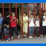 EN LAS VAQUILLAS DE LAS FIESTAS DE TORÁS 2005. PABLO, CARLOS, ALBERTO, JORGE Y CARLOS. FOTO DE E. SOLER